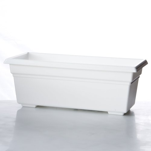 Countryside Flower Box Planter - 24 Inch White ()