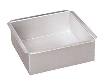 Parrish's Magic Line Square Cake Pan, 10 x 3 Inches Deep