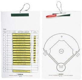 Softball Line-Up Coaches Clipboard KBA Magnetic Baseball