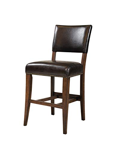 "Cameron Padded Back 30"" Barstool Wood/Chestnut Brown (Set of 2) - Hillsdale Furniture"