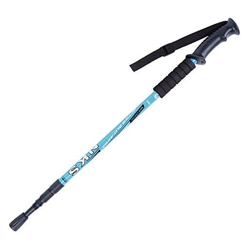 hikehobby® Telescopic Antishock Trekking Hiking Pole Staff Walking Cane Stick Adjustable Stretch From 64CM to 135CM…