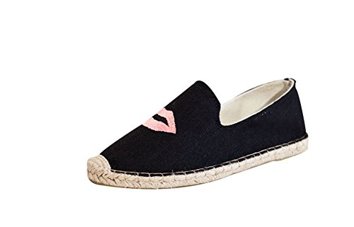 Bomovo Women S Memory Foam Comfort Canvas Slip On Flats