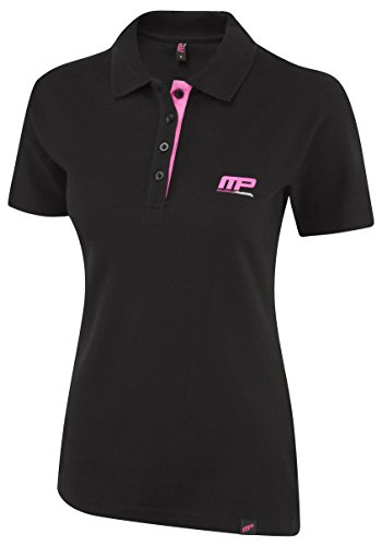 Musclepharm MPLTS470 LADIES MUSCLE PHARM PRINTED T SHIRT BLACK/HOT PINK SMALL - La Camisa De Las Mujeres Del Polo - Negro / Rosas Fuertes, Pequeño