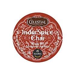 Celestial Seasonings Original India Spice Chai Tea K-Cup Pods, 0.35 Oz, Box of 24 Pods