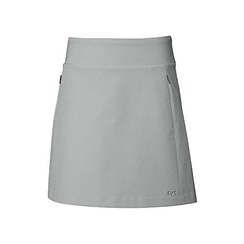 - Cutter & Buck Women's Moisture Wicking 50+ UPF Pacific Pull-on Skort with Pockets, Oxide Heather, Large