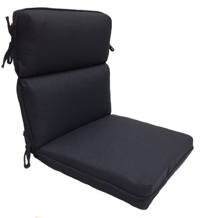(Attractive and Comfortable One Piece High Back Dining Chair Cushion, Navy)