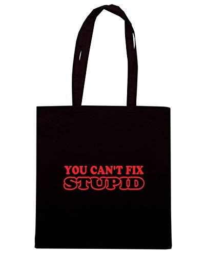 Speed Shirt Borsa Shopper Nera FUN0943 CANT FIX STUPID 2 ADHESIVE 29102