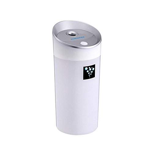 Office Portable - Ainingshi Mist Ultrasonic Humidifier 300ML USB Air Humidifier Mist Maker Portable Adjustable Mist Mode for Office Car Home Study Yoga Spa (White)