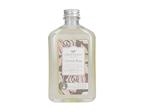GREENLEAF Reed Diffuser Oil - Currant Rose - Last Up to 3 Months - Made in The USA