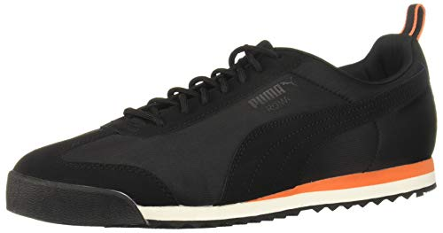 (PUMA Men's Roma FOF Sneaker, Black-Firecracker, 9 M US)
