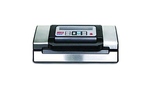 Double Vacuum Sealer (Nesco American Harvest VS-12 130W Vacuum Sealer, Black/Silver)