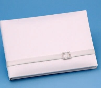 Wedding Guestbooks : Glamour Collection - Wedding Guest Book / Ivory ()