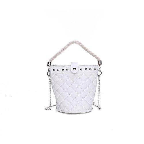 Main ZHRUI Sac Fashion Lingge à à Blanc bandoulière Main à Sac Main Sac à Tqrxw41T