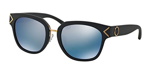 Tory Burch Women's 0TY9041 Matte Navy/Blue Flash Polarized Mirror - Navy Burch Tory
