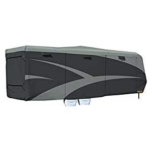 "ADCO 52275 Toy Hauler Designer Series SFS AquaShed Cover, Fits 30'1"" - 33'6"" Trailers, Gray"