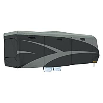 Image of RV & Trailer Covers ADCO Gray 52275 Toy Hauler Designer Series SFS AquaShed Cover, Fits 30'1'-33'6' Trailers