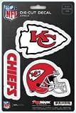 NFL Kansas City Chiefs Team Decal, 3-Pack