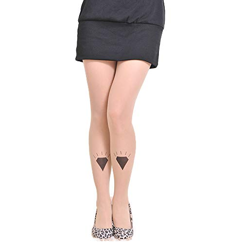 Women's Sexy Pantyhose Tattoo Stockings Cotton Tights Pantyhose Stockings with Diamond Pattern Pantyhose Soft pantyhose, Nude A ()