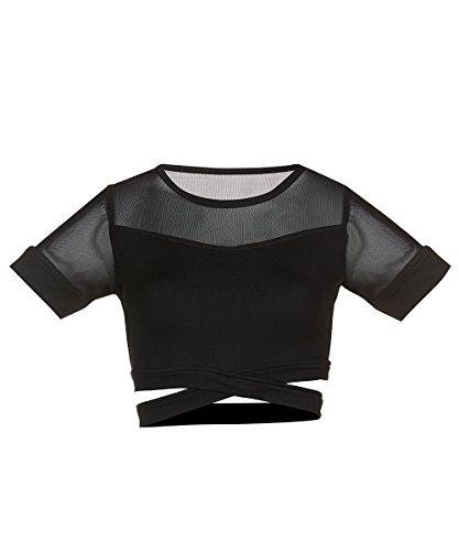 Dance Crop Top (Soffe Juniors Crop Dance Top, Black, Extra Large)