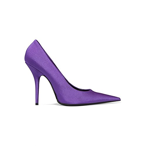 Picture of Themost Women's Pointy Toe Sheepskin Leather Stiletto Party Pumps(Purple,43)