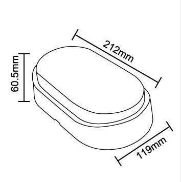 Aurolite 14w Led Bulkhead Lamp 4000k 1000 Lumen Ip54 Rated Ideal