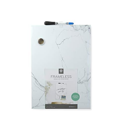 - U Brands Marble Print Magnetic Dry Erase Board, 11