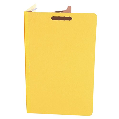 (Universal 10214 Pressboard Classification Folders, Legal, Four-Section, Yellow, 10/Box)