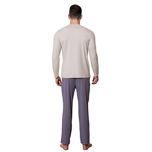 3c068ee20c QianXiu Temporada de primavera y verano Conjunto de pijamas de hombre Manga  corta Pantalones ropa de