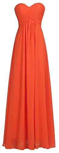 orange long dresses wedding - 9