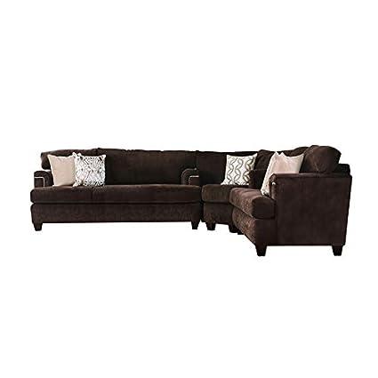 Cool Amazon Com Furniture Of America Bailey Brown Chenille Lamtechconsult Wood Chair Design Ideas Lamtechconsultcom