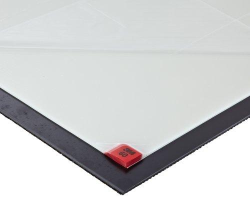 Cleanroom Mats Sticky (3M Clean-Walk Framed Mat 5840 White on Black, 31-1/2 in x 25-1/2 in Floor Mat (Pack of 1))