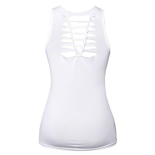 Mangas De Ropa Camisetas Esmalte White Vendaje Estampado En Blusa Cuello Confort V Con Camis Estampada Top Chaleco Sin Y Transpirable Bazhahei 1 Mujer Tq8Y5