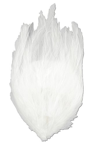 Touch of Nature Hackle Feather Pad, 7 by 4.5-Inch, White