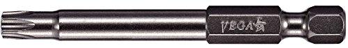 VEGA T20 TORX Security Bits. Professional Grade ¼ Inch Hex Shank TORX T-20 S2 Steel 6'' Security Bits. 190TT20A by VEGA Industries
