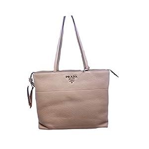 Prada Vitello Phenix Leather Shopping Tote Bag Cammeo Beige 1BG203
