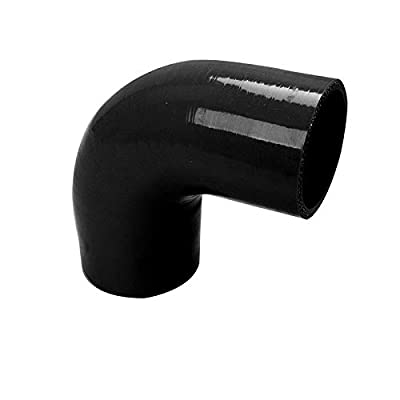 """For elbow Silicone hose 90 degree 3"""" to 2"""" reducer COUPLER intercooler black: Automotive"""