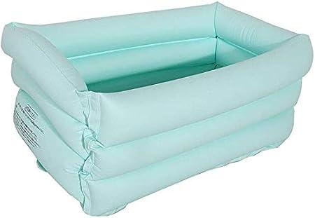 Geng Piscinas hinchables Piscina, Inflable Infantil Bañera Piscina for niños, baño Caliente Barril del baño del bebé Barril Tina Plegable (Color : Blue)