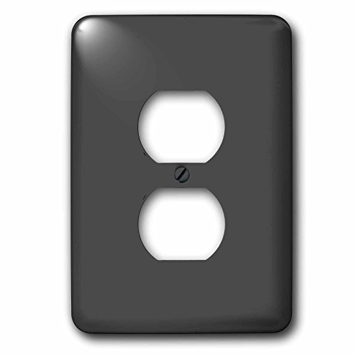 3dRose lsp_30644_6 Charcoal Gray Outlet Cover Multi-Color