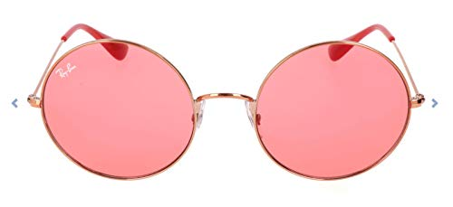 Ray-Ban RB3592 Ja-Jo Round Sunglasses, Shiny Copper/Pink Mirror, 55 ()