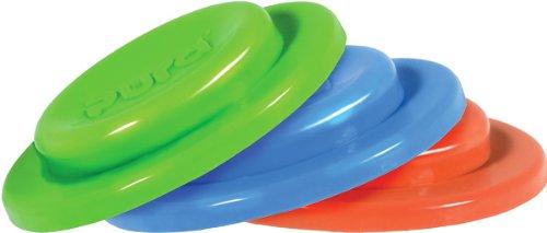 Pura Kiki 3 Piece Silicone Sealing Disk, Blue, Green, Orange, 0 Months+ (Plastic Free, NonToxic Certified, BPA Free)