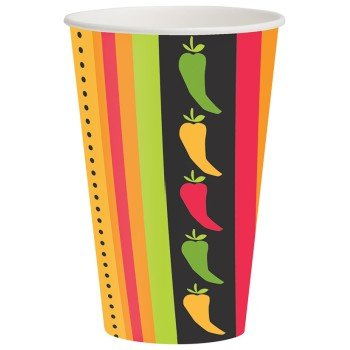 Creative Converting 8 Count Hot or Cold Beverage Cups, Fiesta Grande