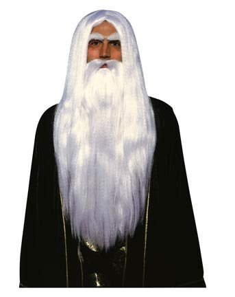 Merlin Wig and Beard Set Costume Accessory
