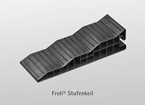 31Jf9R6HunL Froli Stufenkeile Auffahrkeile - 2 er Set für Wohnmobil, Reisemobil, Wohnwagen und Camper, Ausgleichskeil Set, 2x…