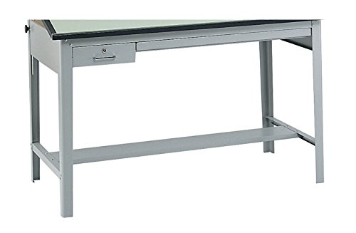 Safco Products 3962GR Precision Drafting Table Base for use with 3952, 3953 Table Top, sold separately, Gray - Safco Precision Drafting Table