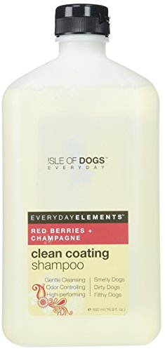Everyday Isle of Dogs Clean Coating, Red Berries + Champagne Dog Shampoo for Dirty, Filthy and Smelly Dogs, 16.9oz Luxury Dog Shampoo