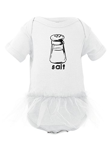 Halloween Costume - Cute Twin Bodysuit With Salt (Goes With Pepper) Print With Tutu (12 Months, (Twin Girl Costumes)