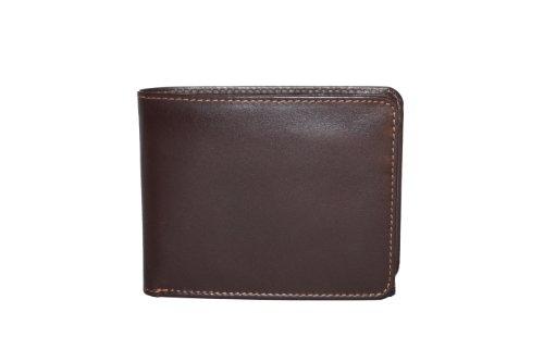 Cartera con el cierre para señores y señoras (con la caja de madera) LEAS, Piel auténtica, marrón - ''LEAS Elegance-Edition''