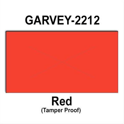 220,000 Garvey Compatible 2212 Warm Red General Purpose Labels to fit the G-Series 22-6, G-Series 22-7, G-Series 22-8 Price Guns. Full Case + includes 20 ink rollers. by Infinity Labels