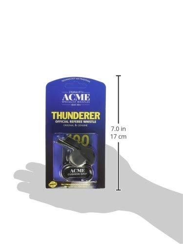 ACME 58.5 Thunderer Finger Grip Metal Whistle Nickel-Plated