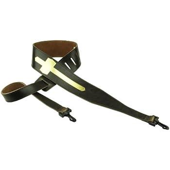 perris leathers p25ebjbr 165 2 5 inch brown leather embosed banjo strap musical. Black Bedroom Furniture Sets. Home Design Ideas
